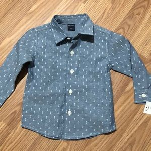 NWT Nautica Anchor Shirt 12m